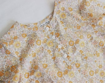 Amee Yellow Floral Cotton Lawn Shirt