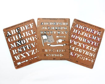 Three Stenso Alphabet and Number Sets, American Flag