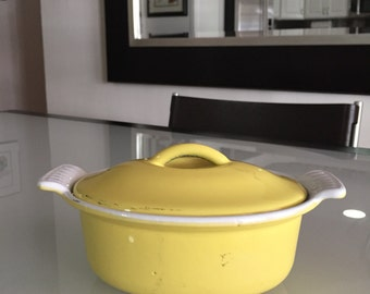Descoware/Descoware Enameled Cast Iron/Made in Belgium/Mid Century Casserole/By Gatormom13 JUST REDUCED