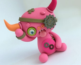 Random STEAMPUNK LittleLazies | 1 Miniature Monster Polymer Clay Sculpture | Handmade | Thank You!