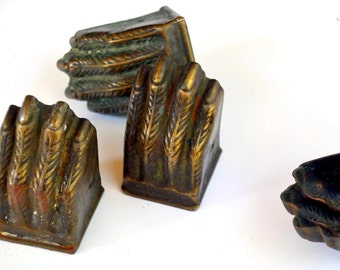 Brass Lions Claw Feet U0027Toe Capsu0027: Set, Four 4 XX Large Rustic