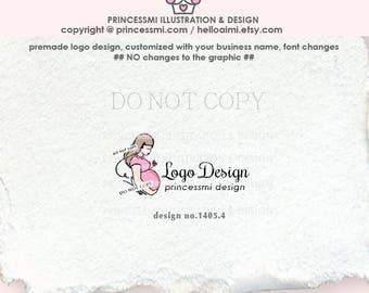 1405-4 Pregnancy Logo Design, Pregnant Mother Logo, New Mom logo, photography logo, Pregnancy business logo , premade logo, watermark