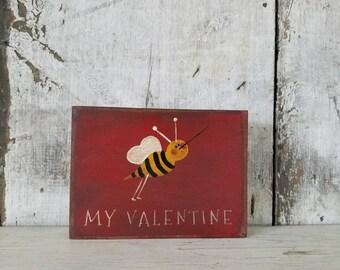Primitive Valentines Bee Country Decor