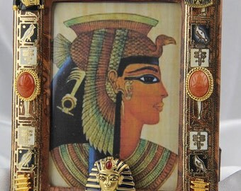 Gorgeous Ancient Egyptian Art Jewelry Picture Frame, All Occasion, Birthday, Holiday Gift