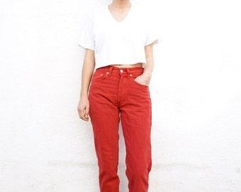 Levis 501 Jeans Red Deadstock sz. 25