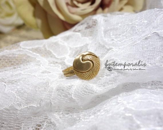 Bronze ring, french size 57, US size 8, OOAK, SABA06