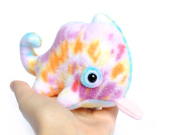 Lil Light Splash Tie Dye Chameleon Plush