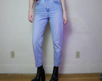 90s pale blue high waisted denim size 6p 26inch waist