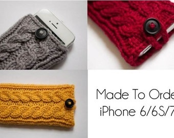 Signature Cable Double Cable Knit iPhone Case for iPhone 6/6S /7- Made to Order