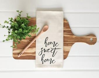 Tea Towel - Home Sweet Home Tea Towel Kitchen Towel Kitchen Towel Dish Towel Farmhouse Decor Kitchen Decor Home Decor Cotton Tea Towel