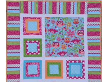 Easy Quilt Pattern Pixie by Sew You Like It PAPER Version Beginner Friendly Baby Quilt