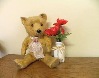 "Chiltern Musical Vintage Bear - 16"" Vintage English Teddy - 1960's Mohair Bear"