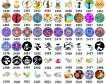 8mm 10mm 12mm 14mm 16mm 18mm 20mm 25mm ( 25mm Flat ) 30mm Handmade Photo Glass Cabochon -ALL Images Design Preview-( HPP-GG) B