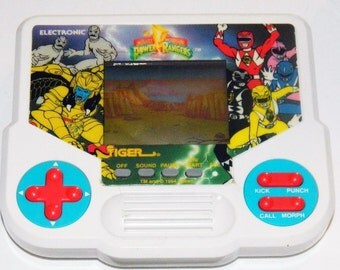 Vintage Power Rangers 1994 Tiger Electronics Handheld Video Game Toy 90s