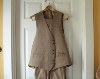 Pants And Vest ,X-Large Vintage Light Brown LaBaron Of California