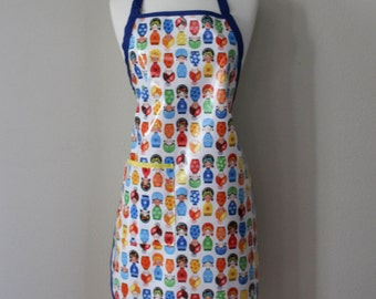 Womens Waterproof Apron Plus Size Apron in Little Senoriats Print