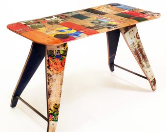 Recycled Skateboard Desk by Deckstool - 48