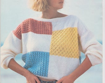 80s style jumper knitting pattern