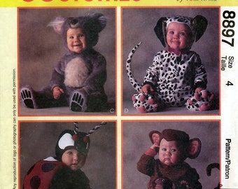 McCall's 8897 Sewing Pattern for Toddlers' Costumes - Uncut - Size 4