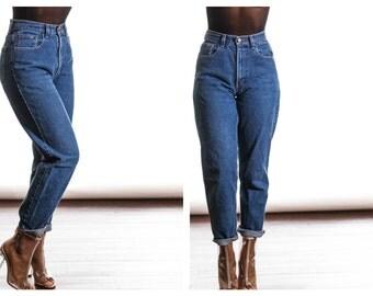 All Sizes DARK WASH Vintage 80s High waist Mom Jeans