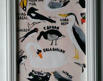 Irish Birds  - acrylic painting