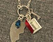 Laura's Secret Diary Necklace w/ Silver Broken Heart, inspired by Twin Peaks.