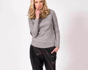 SALE Black Low Rise Faux Leather Pants with Elastic Waistband