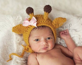 IN STOCK Newborn Giraffe Hat - Photo prop