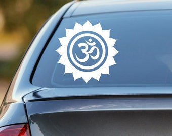 Om Decal, Lotus Decal, Om Car Decal, Yoga Decal, Yoga Car Decal, Om Sticker, Yoga Sticker, Ohm Decal, Laptop Sticker, Laptop Decal, Decal