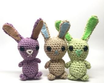 Crochet Bunny Plush / Baby Bunny / Handmade Bunny Toy / Bunny Amigurumi / Small Rabbit Plush / Ready to Ship