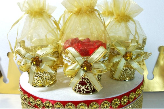 baby shower favors and decorations perfect for red and gold baby