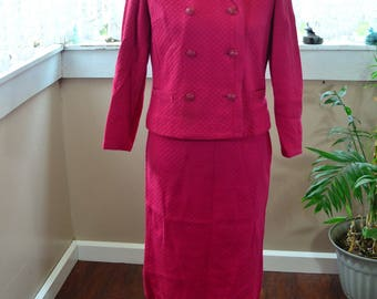 Vintage 60's Kimberly Dress Suit Jacket, Shirt and Skirt - S