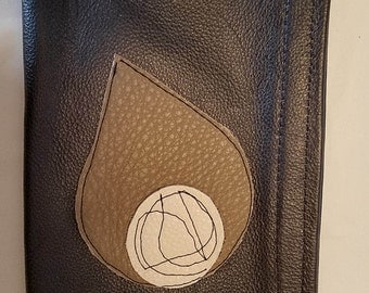handmade Italian leather wristlet