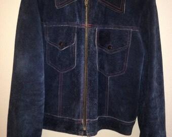 AMF Harley Davidson Jacket, suede motorcycle jacket, mens motorcycle jacket