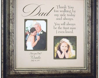 Father of the Bride Gift, wedding gift for dad,thank you gift for dad, Personalized Picture Frame, Gift for dad, father daughter gift. 16x16