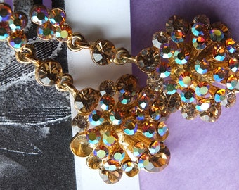 Bronze chrystal drop earrings wedding perfect