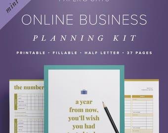 Mini Online Business Planning Kit – Small Business Planner Printable, Etsy Shop Planner, Blog + Social Media Planner, Freelance Planning