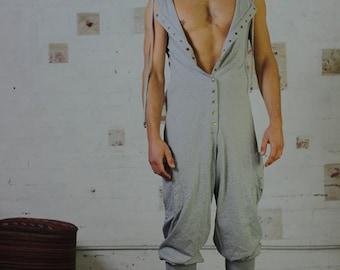 Long Johns - Mens Jumpsuit, Mens Onesie, Mens Overalls, Sleeveless Jumpsuit, Festival Clothing, Hooded Jumpsuit, Yoga Clothing, Men's Pants.