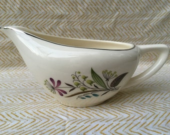 asian inspired gravy boat floral dish