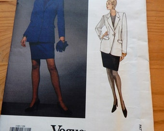 Vogue Paris Original Pattern Claude Montana Designer Jacket & Skirt  Vogue 1182 SZ 12-14-16