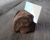 Lucky Animal Palm Wood Elephant Shaped Table Numbers Holder Party Wedding Table Name Card Holder Menu Holder Photo Picutre Holder