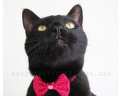 Cat Bow Tie - Be Mine Valentine - Choose From Two Styles