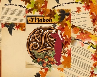 MABON SABBAT Ritual Spell, Digital Download, Wicca, Book of Shadows, Ritual, Spell,Pagan, White Magick, Wicca , Witchcraft