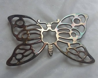 Leonard Silverplate Butterfly Trivet Wall Hanging