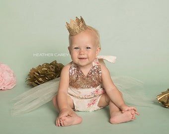 Ready to Ship || Avery ||MINI vintage lace crown headband|| gold, silver, rose gold  || photography prop|| FIRMEST crowns || WASHABLE