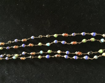 Unique Vintage Glass Beaded Necklace