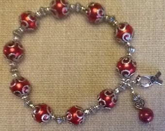 095 Heart Disease/Stroke Awareness Bracelet