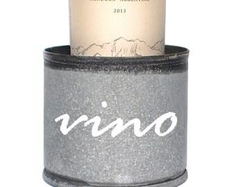 Custom Galvanized Wine Coaster