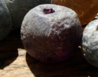 Dark Ghana African Trade glass krobo hand made  bead