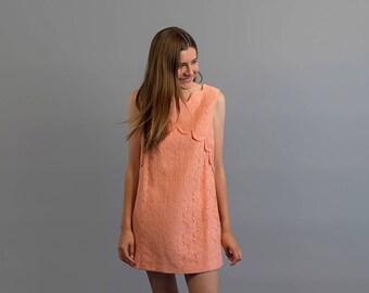 60s Lace Micro-Mini Dress / Vintage 60s Dress / Floral Lace Dress / Party Dress / Mod Dress Δ size: M